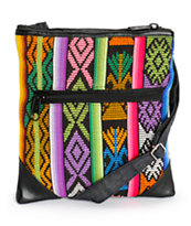 Baja Bags Embroidered Tribal Crossbody Purse