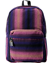 Baja Bags Purple Stripe Woven Backpack