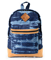 Baja Bags Washed Denim Blue & White Backpack