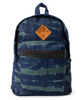 Baja Bags Washed Denim Green Backpack