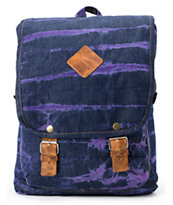 Baja Bags Washed Denim Purple Backpack