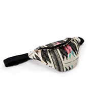 Barganza Black, White & Multicolor Aztec Print Fanny Pack