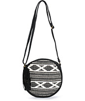 Barganza Black & White Canteen Crossbody Bag