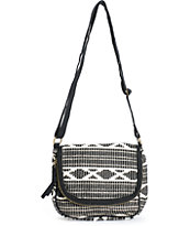Barganza Black & White Crossbody Purse