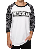 Basic Math Camo Baseball T-Shirt
