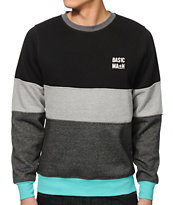 Basic Math Stripe Crew Neck Sweatshirt