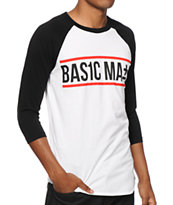 Basic Math Text Logo Baseball T-Shirt