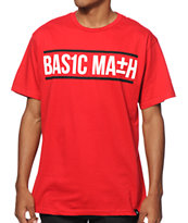 Basic Math Text Logo T-Shirt