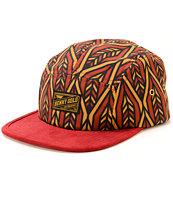 Benny Gold Arrow Pattern 5 Panel Hat