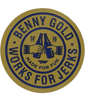 Benny Gold Cheers Sticker
