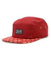Benny Gold Ikat Arrowhead Burgundy 5 Panel Hat