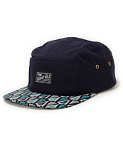 Benny Gold Ikat Arrowhead Navy 5 Panel Hat