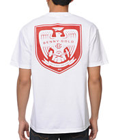 Benny Gold Iron War White Pocket Tee Shirt