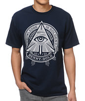 Benny Gold Pyramid Navy Tee Shirt