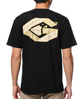 Benny Gold Ribbon Black Tee Shirt