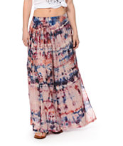 Billabong After Night Tie Dye Maxi Skirt