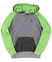 Billabong Boys Balance Green & Grey Pullover Hoodie
