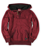 Billabong Boys Rasta Red Pullover Henley Hoodie