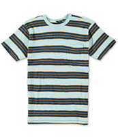 Billabong Boys Vital Blue Stripe Pocket Tee Shirt