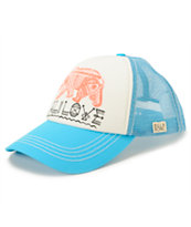 Billabong Cali Dreamz Blue Trucker Hat