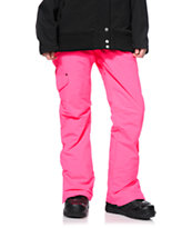 Billabong Candy Neon Pink 10K Girls Snowboard Pants 2014