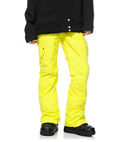 Billabong Candy Neon Yellow 10K Girls Snowboard Pants 2014