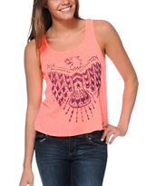 Billabong Come By Anytime Coral Tank Top