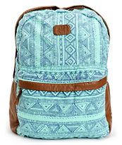 Billabong Fashion Masters Tribal Print Aqua Backpack