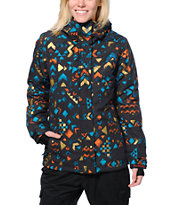 Billabong Flake Black 8K Girls Snowboard Jacket 2014