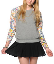 Billabong Floral Daze Crew Neck Sweatshirt