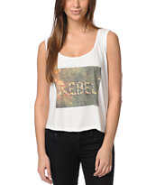 Billabong Flower Me Rebel Natural Muscle Tank Top