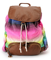 Billabong For Keeps Striped Rucksack Backpack