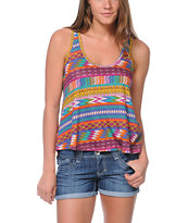 Billabong For Sure Printed Berry Tank Top