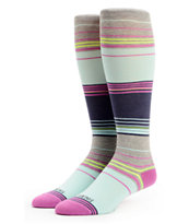 Billabong Girls Abiding Bedford Stripe Knee Socks