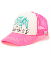 Billabong Girls Cali Dreamz Neon Pink Trucker Hat