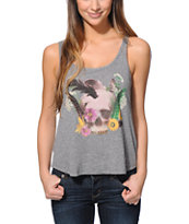 Billabong Girls Ceremony Happenings Dark Grey Tank Top