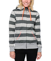 Billabong Girls Crossing Paths Grey Tech Fleece Jacket