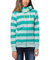 Billabong Girls Crossing Paths Turquoise Tech Fleece Jacket