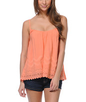 Billabong Girls Livin Free Coral Tank Top