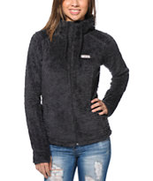 Billabong Girls No Turning Back Black Polar Fleece Jacket