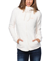 Billabong Girls No Turning Back Natural Polar Fleece Jacket