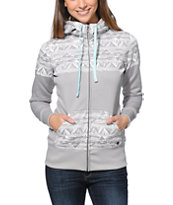 Billabong Girls Ride Out Grey Tech Fleece Jacket