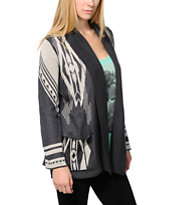 Billabong Girls Sedona Dayz Black Cardigan Sweater