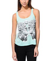 Billabong Girls Tell Me Now And Later Mint Tank Top