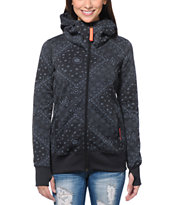 Billabong Girls Walk Me Down Black Tech Fleece Jacket