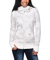 Billabong Girls Walk Me Down Natural White Tech Fleece Jacket