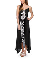 Billabong Golden Splash Black Maxi Dress