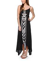 Billabong Golden Splash Black Maxi Dress