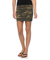 Billabong I Was Here Camo Mini Skirt