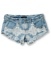 Billabong Laneway Blue Cut Off Shorts